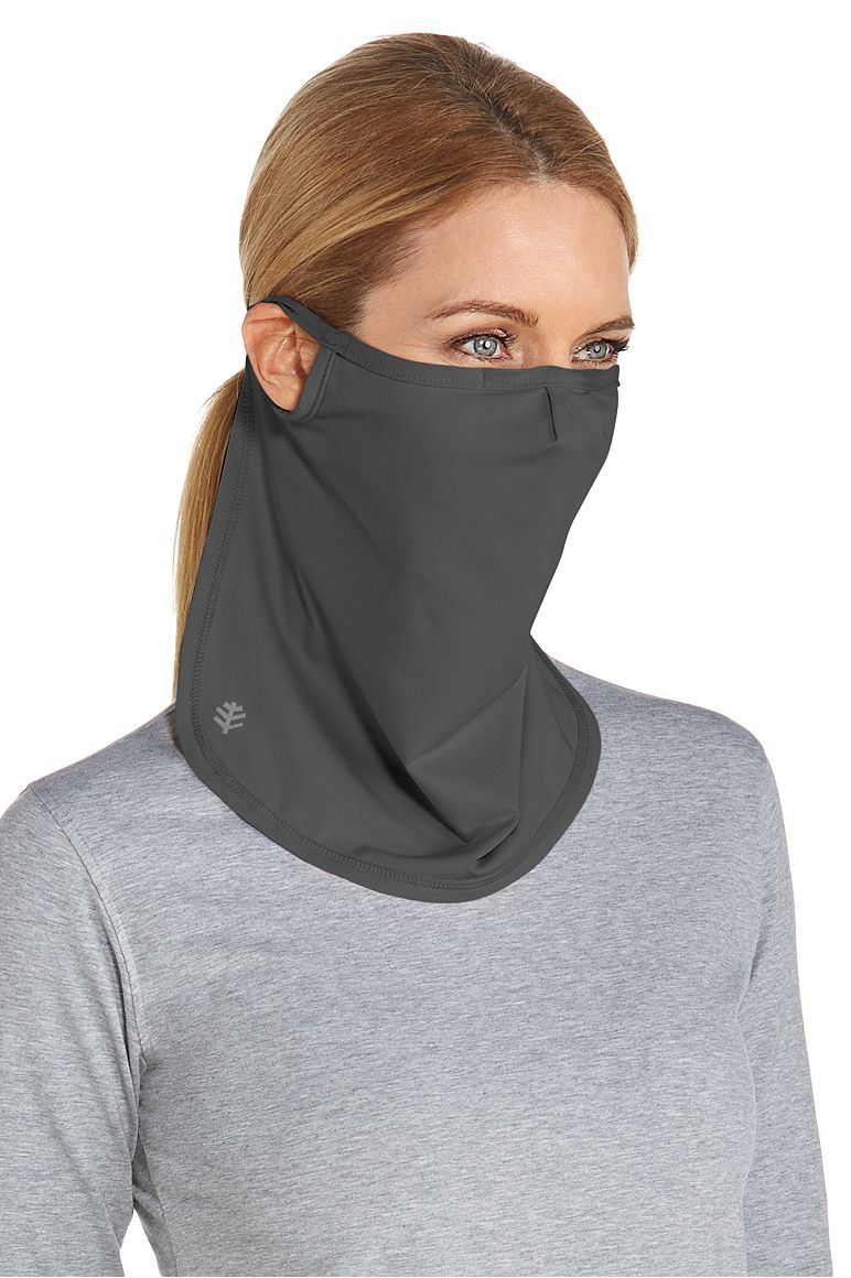 UV Face Mask Charcoal L/XL Solid