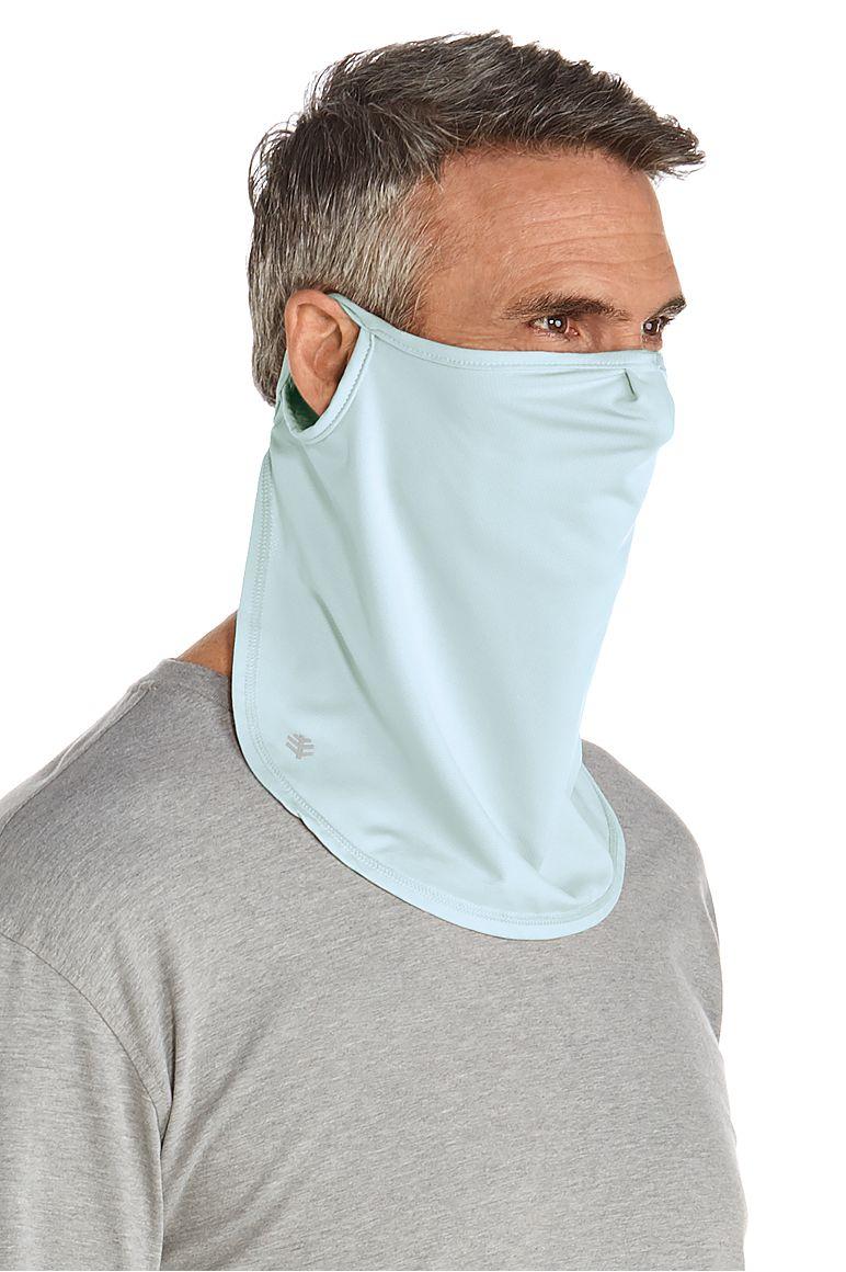UV Face Mask Light Blue L/XL Solid
