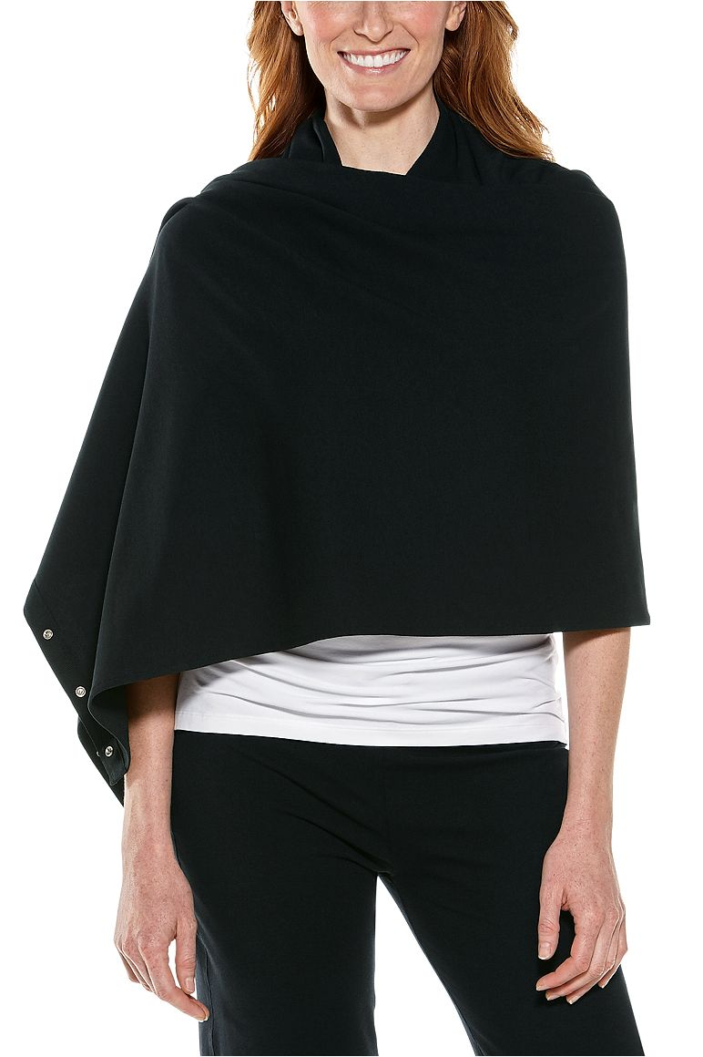 Convertible Sun Scarf Black OS Solid