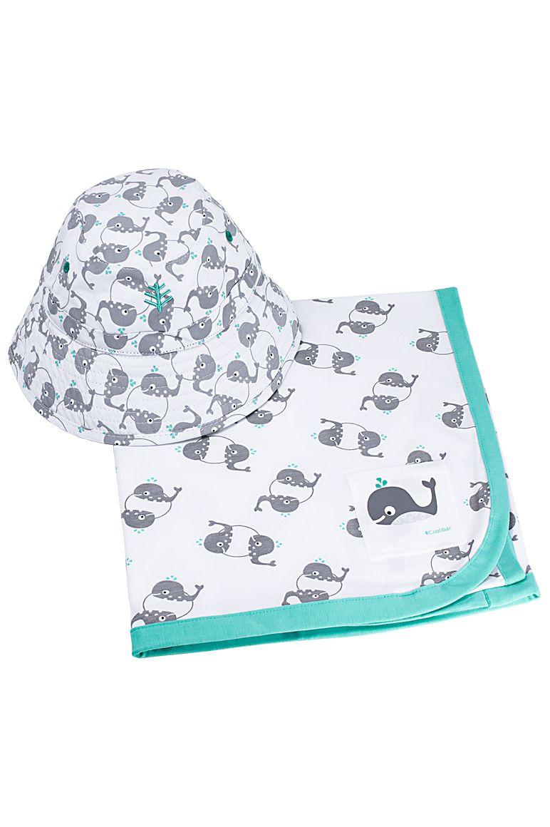 Baby Cotton Cap & Sun Blanket Set UPF 50+