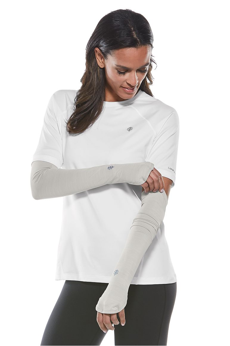 Women's Performance Sleeves Silver L/XL Solid