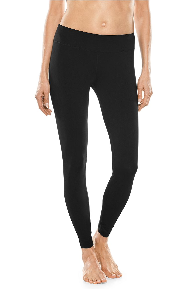 Women's Mid-Rise Deep Water Swim Tights UPF 50+