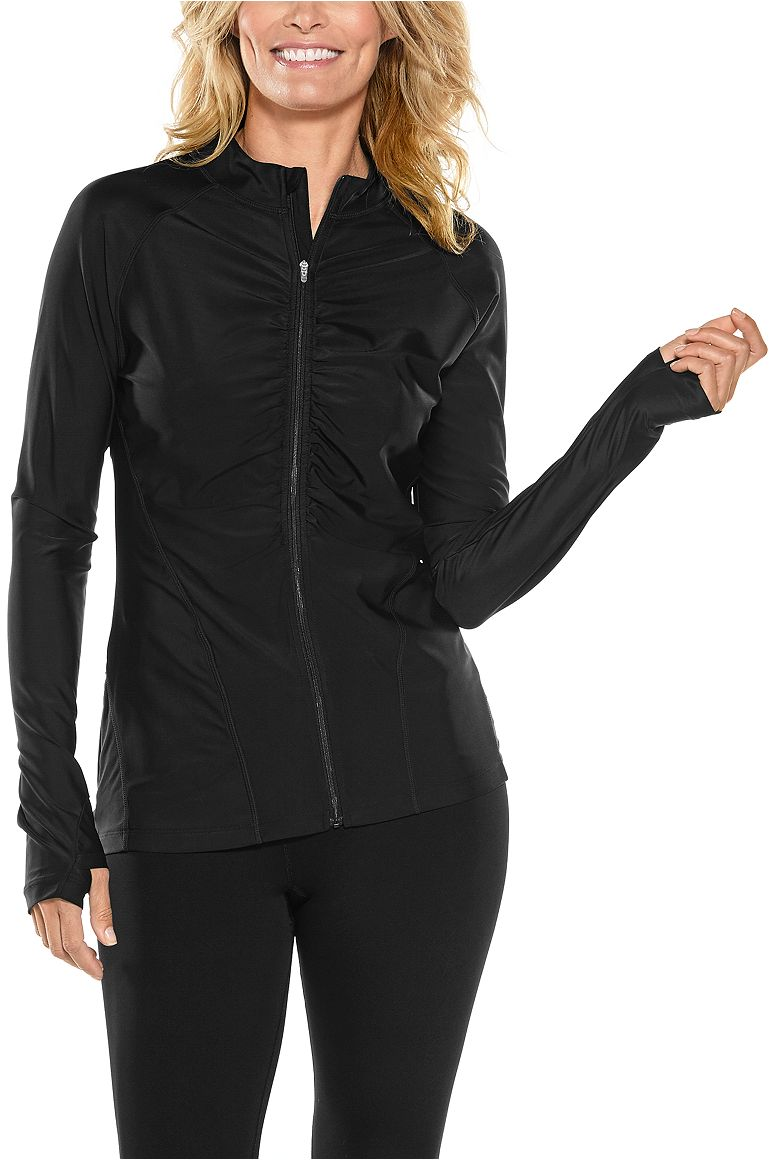 Women's Ruched Swim Jacket UPF 50+