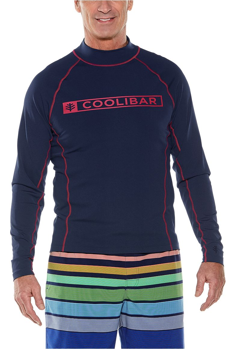 Men's Long Sleeve Logo Swim Shirt UPF 50+