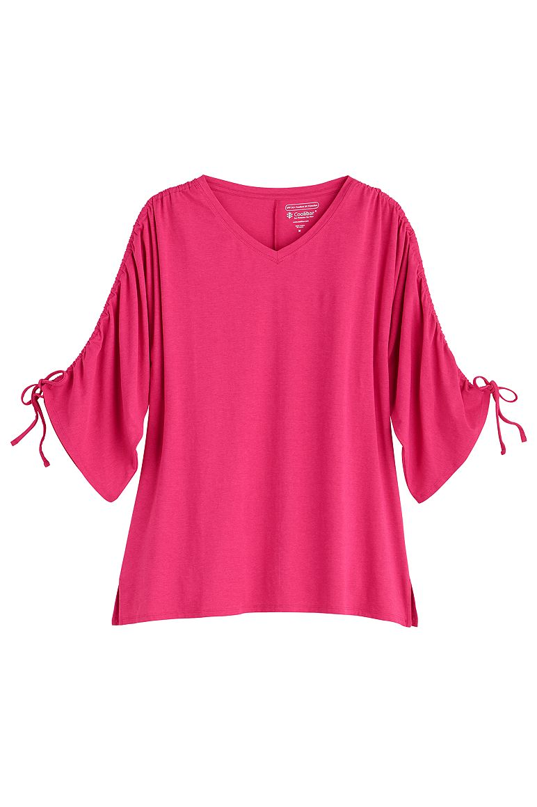 Women's Ruched Sleeve Top UPF 50+