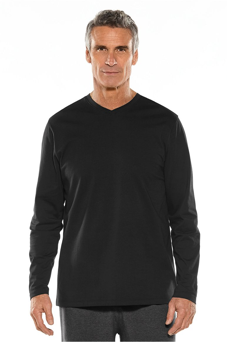 Men's Long Sleeve Everyday V-Neck T-Shirt UPF 50+