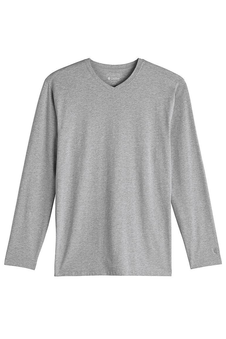 Men's Long Sleeve V-Neck T-Shirt UPF 50+