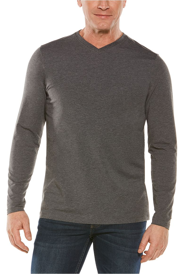 Men's Long Sleeve Everyday V-Neck T-Shirt UPF 50+
