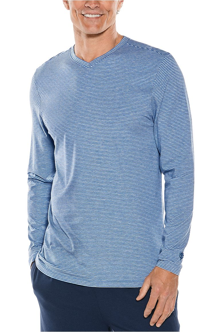 60494e4fd15c Men s Long Sleeve V-Neck T-Shirt UPF 50+  Sun Protective Clothing ...