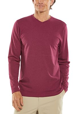 Men's Morada Everyday Long Sleeve V-Neck T-Shirt UPF 50+