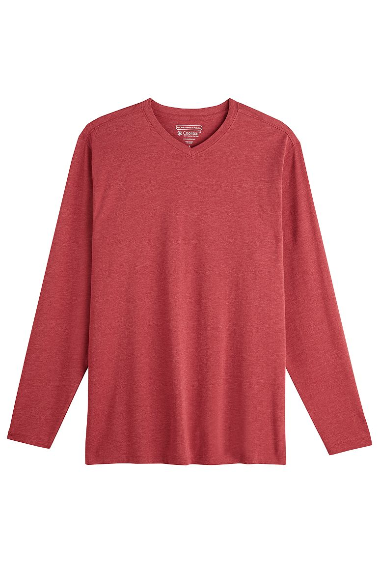 Men's Long Sleeve V-Neck T-Shirt UPF 50+