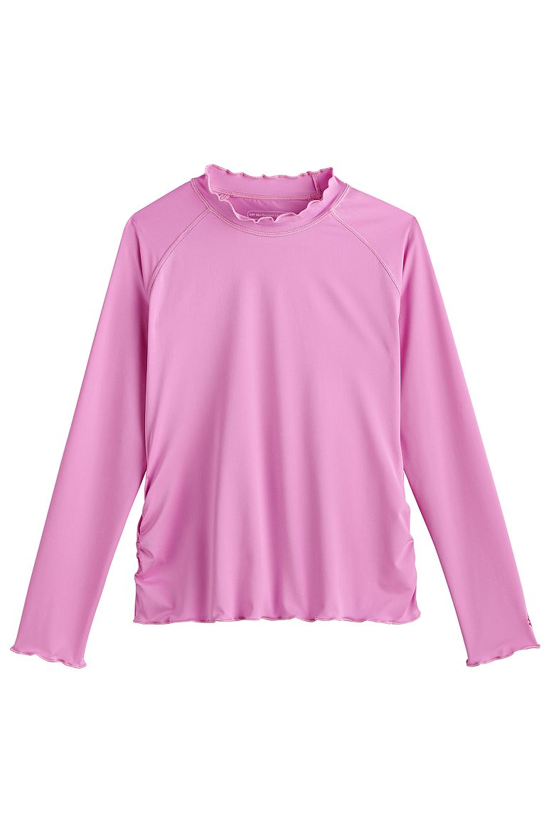 7a9283f2de729 Girl's Ruffle Rash Guard UPF 50+: Sun Protective Clothing - Coolibar : Sun  Protective Clothing - Coolibar