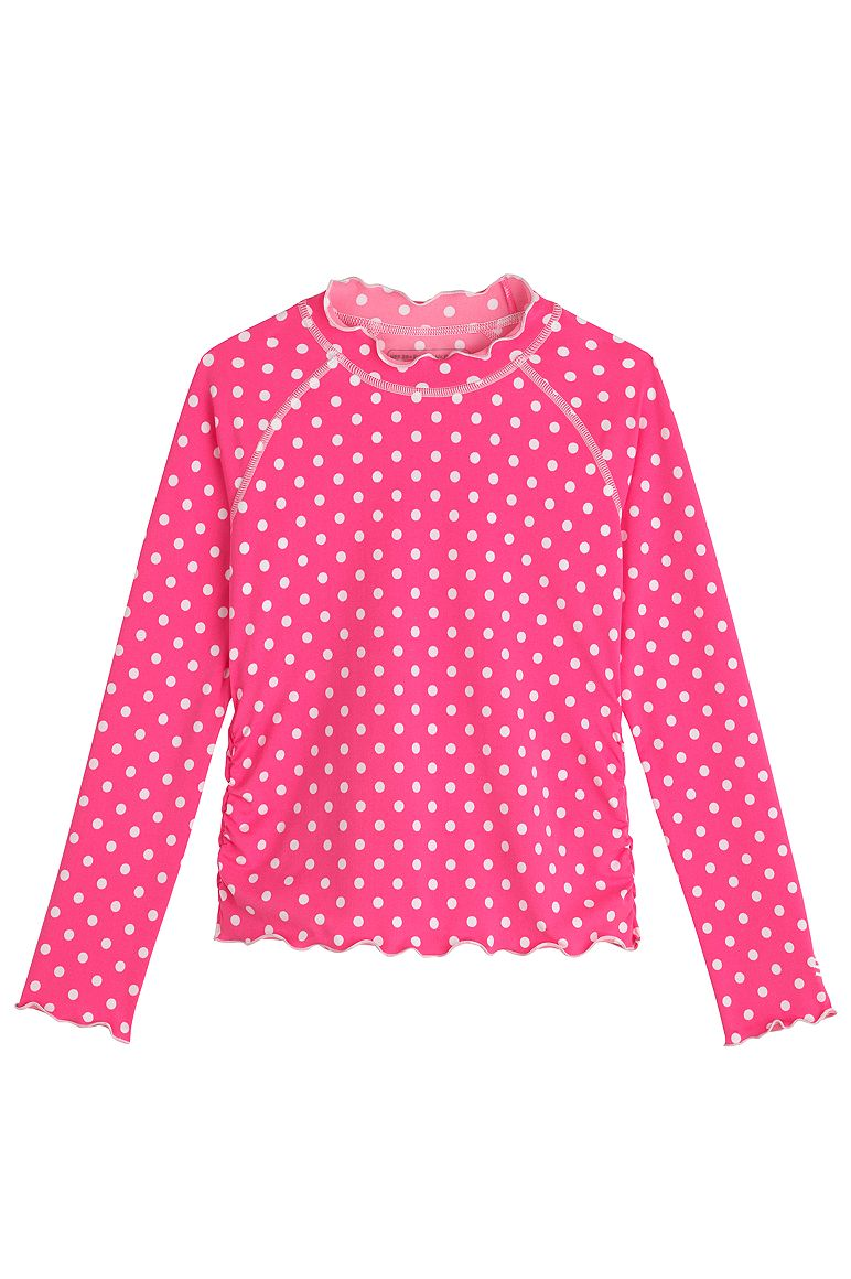 1064b9e6ce3a4 Girl's Ruffle Rash Guard UPF 50+: Sun Protective Clothing - Coolibar ...