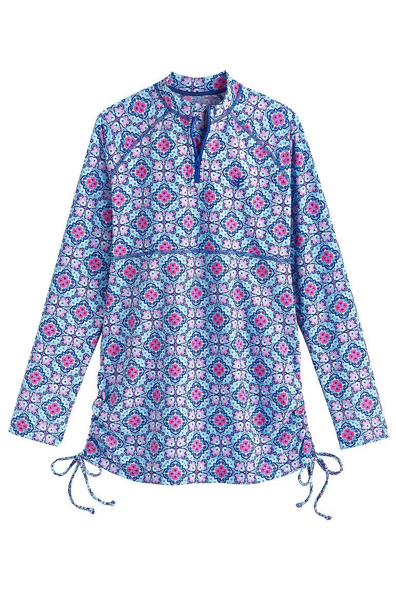 b250e5b03c4a1 Girl s Ruche Swim Shirt UPF 50+  Sun Protective Clothing - Coolibar   Sun  Protective Clothing - Coolibar