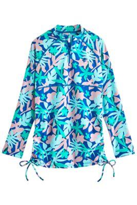 Girl's Lawai Ruche Swim Shirt UPF 50+
