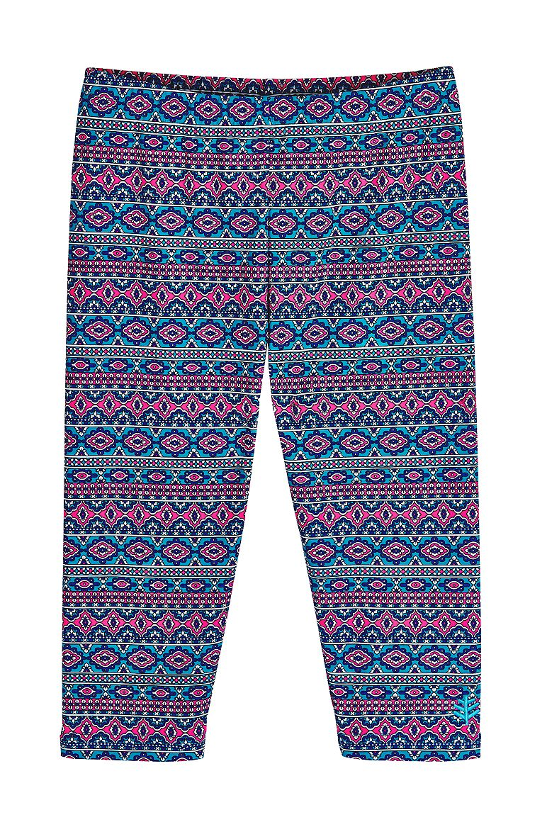 Girl's Wave Swim Capris UPF 50+