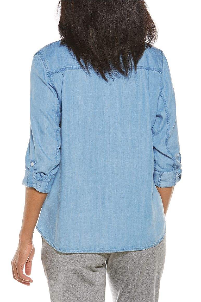 Women's Peninsula Chambray Shirt UPF 50+