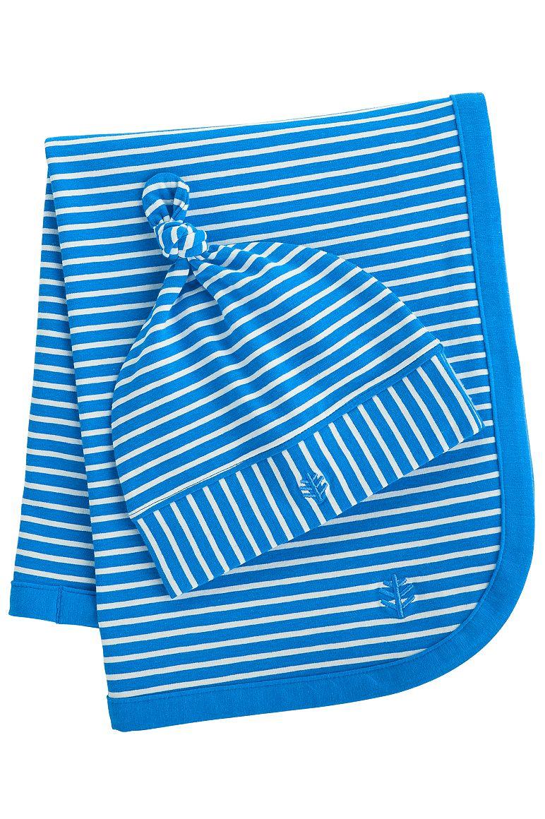 Baby Beanie Hat & Blanket Set UPF 50+