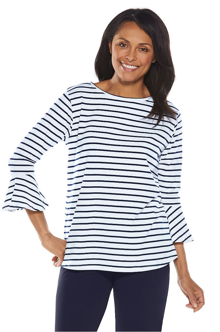 Women's Iris Ruffle Sleeve Top UPF 50+