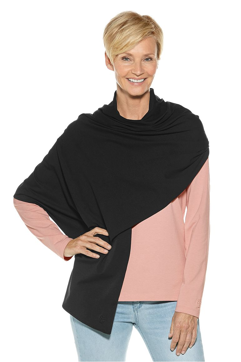 Everyday Beach Shawl Black OS Solid