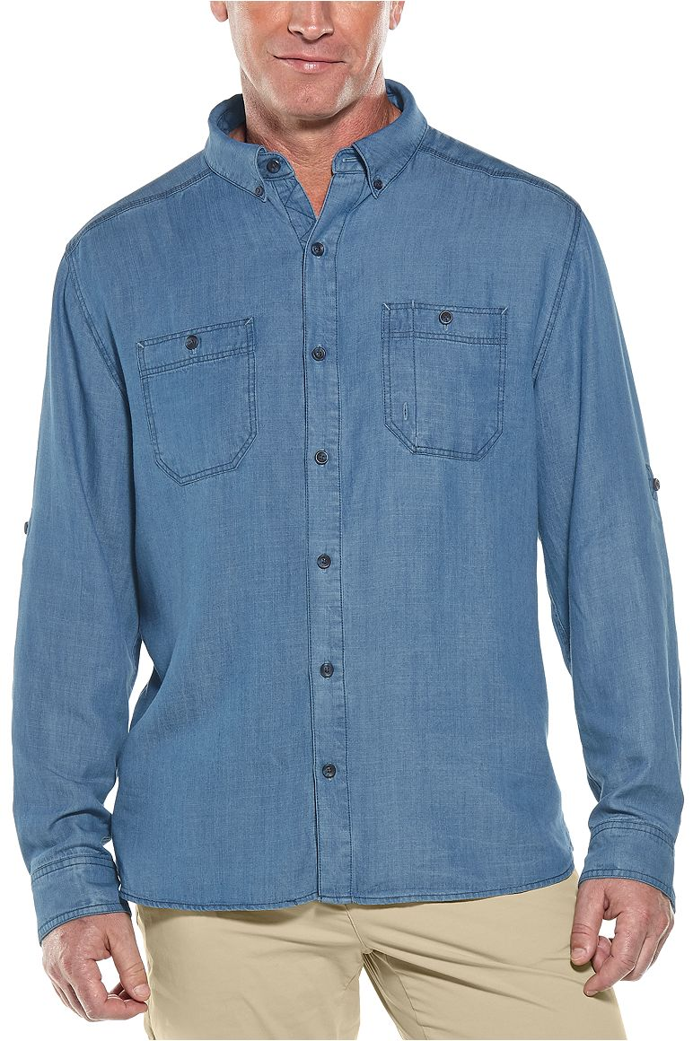 Men's East Ender Chambray Shirt UPF 50+