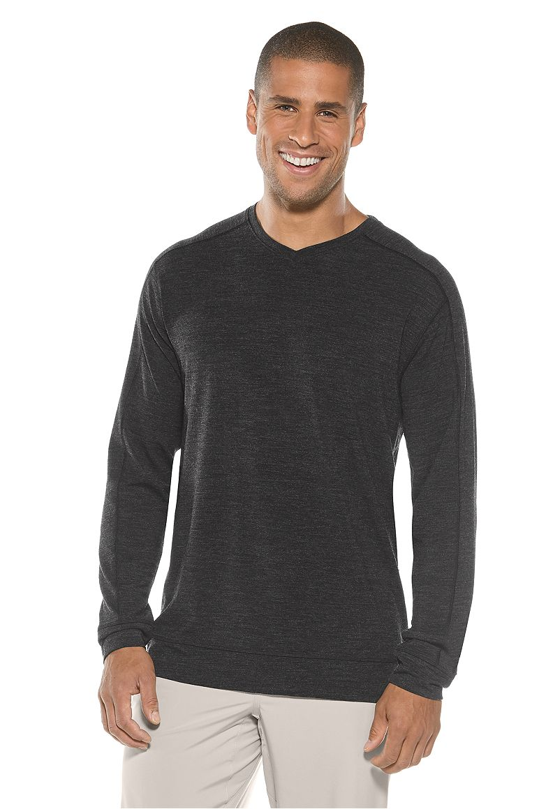 Men's Coopers Merino V-Neck Sweater UPF 50+