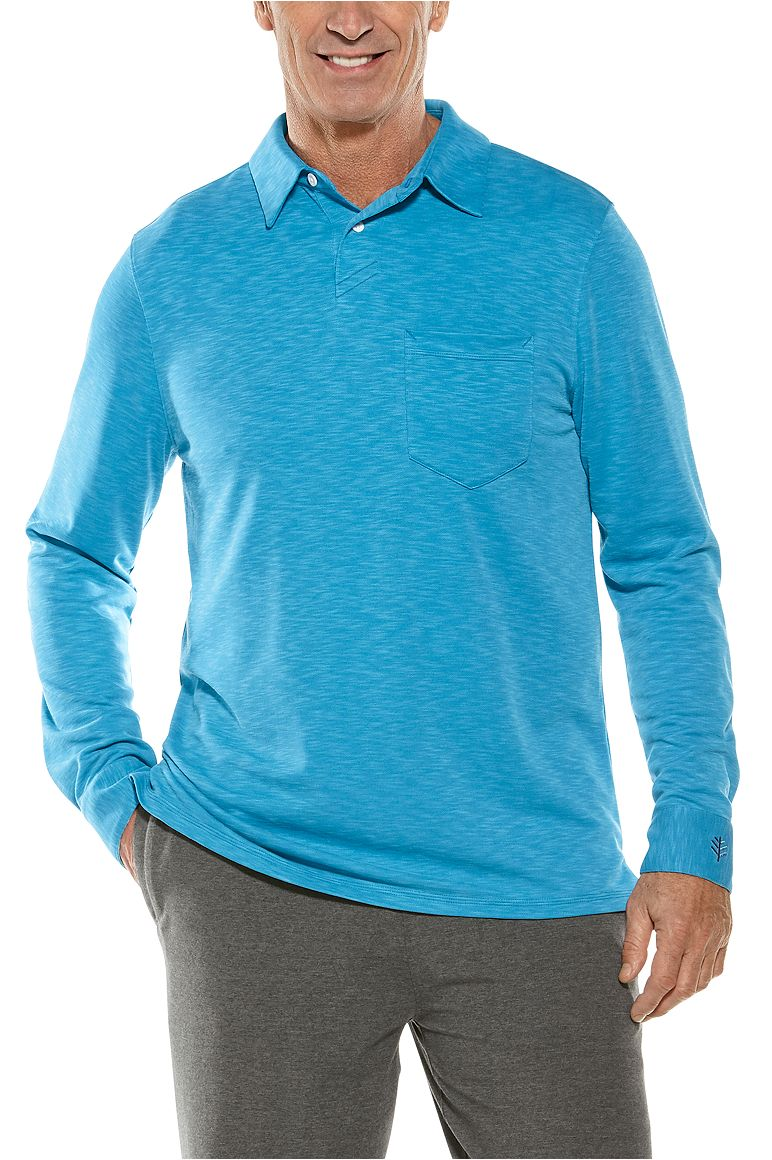 Men's Long Sleeve Baja Pocket Polo UPF 50+