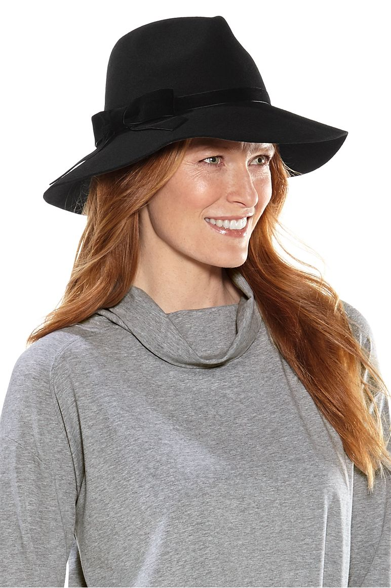 Women's Jacqueline Wool Fedora Hat UPF 50+