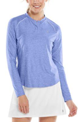 Women's Match Point Long Sleeve Henley UPF 50+