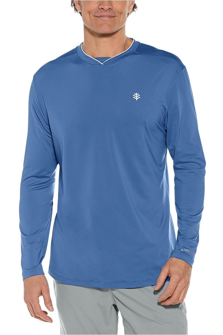 Men's Long Sleeve Tiebreaker Tee UPF 50+