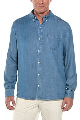 Men's Spencer Chambray Shirt UPF 50+