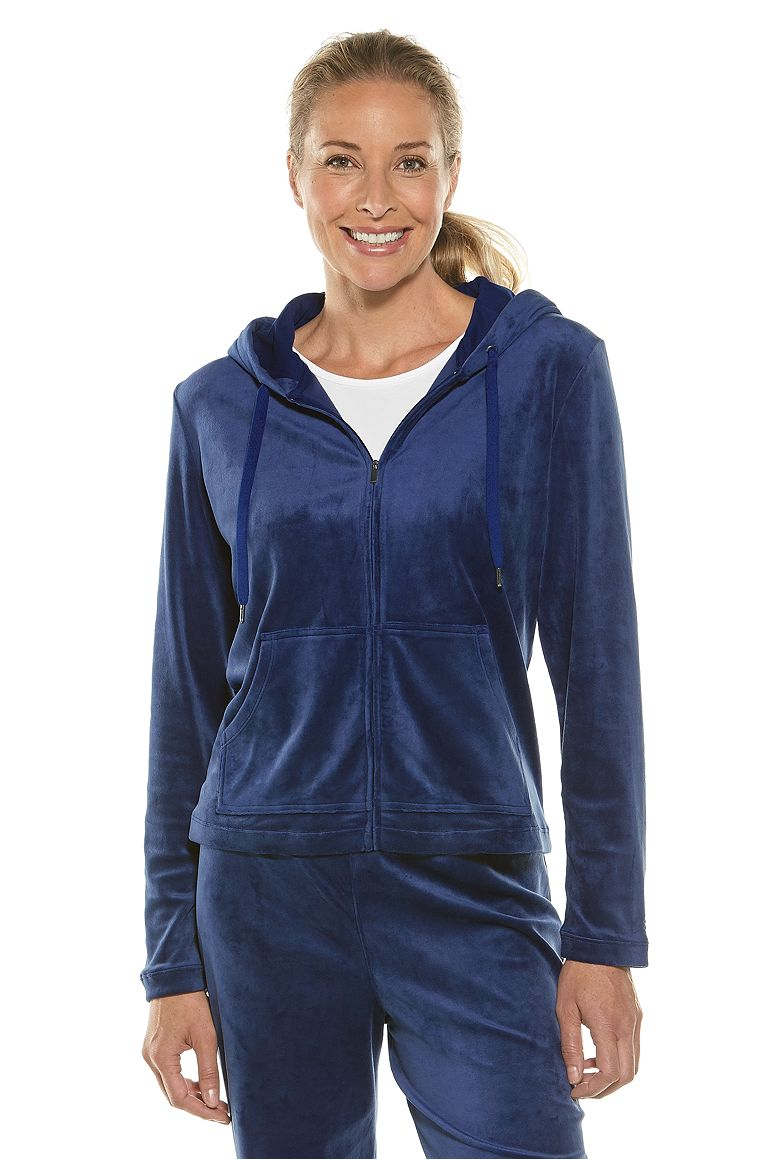 Women's Seaside Velour Hoodie UPF 50+