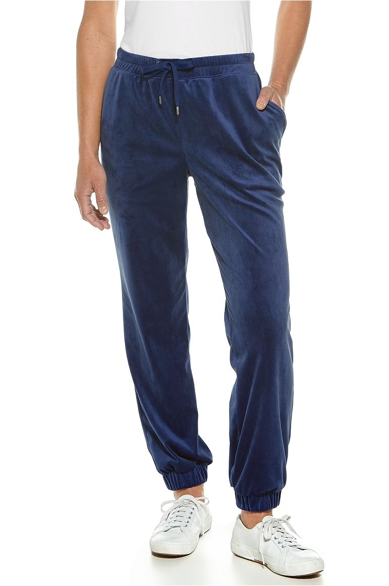 Harbour Velour Pants Midnight Navy 3X Solid