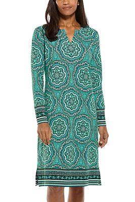 Women's Long Sleeve Oceanside Dress UPF 50+