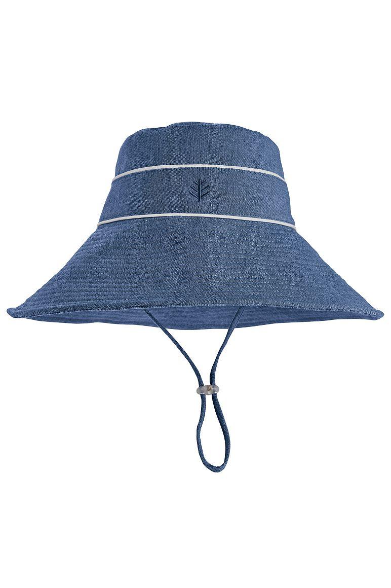 Sand Castle Sun Hat Blue L/XL Chambray