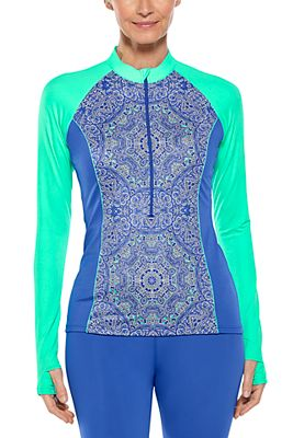 Women's Escalante Zip Rash Guard UPF 50+