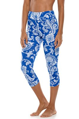 Women's Swell Wave Swim Capris UPF 50+