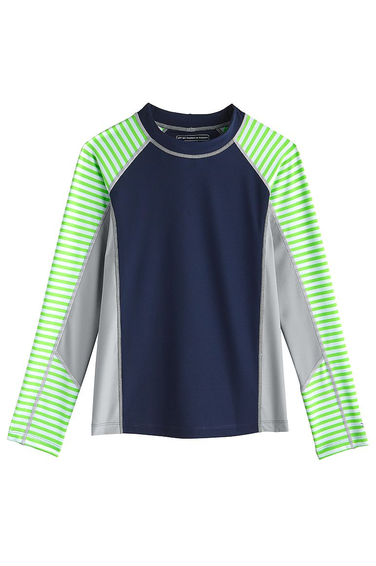 Boy's Colorblock Surf Rash Guard UPF 50+