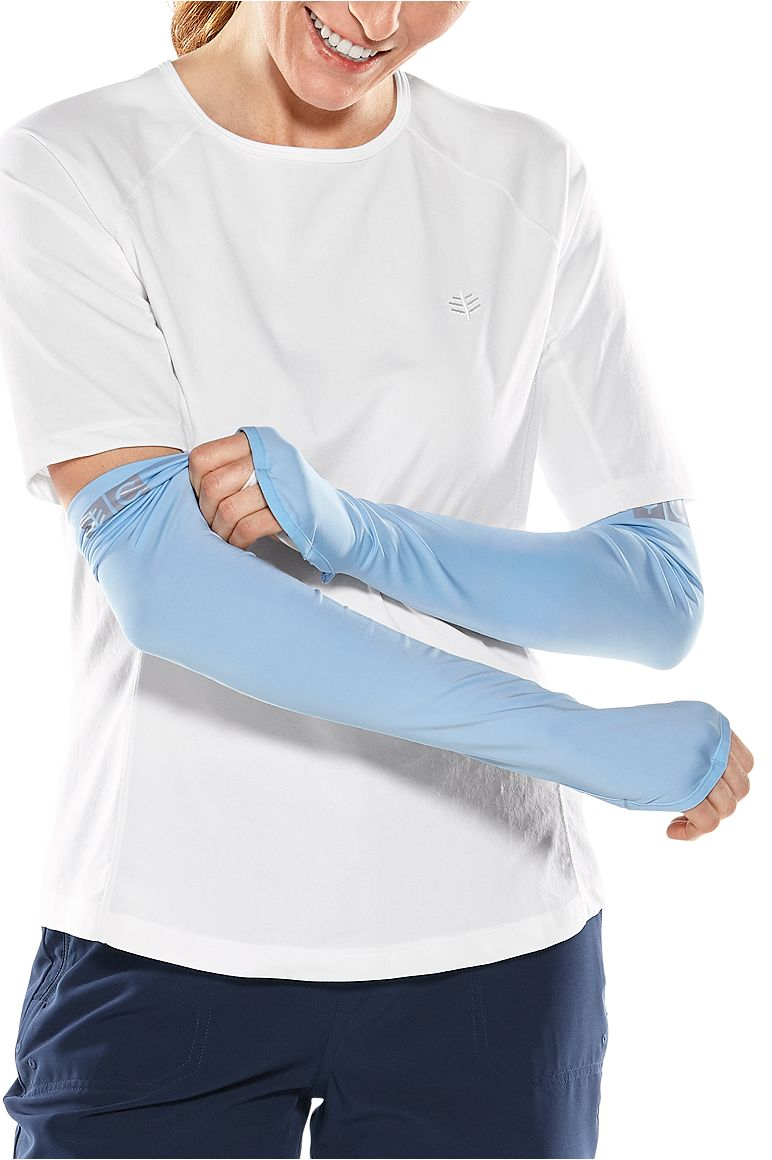 Abacos Women's Fishing Sleeves Blue Harbor L/XL Solid