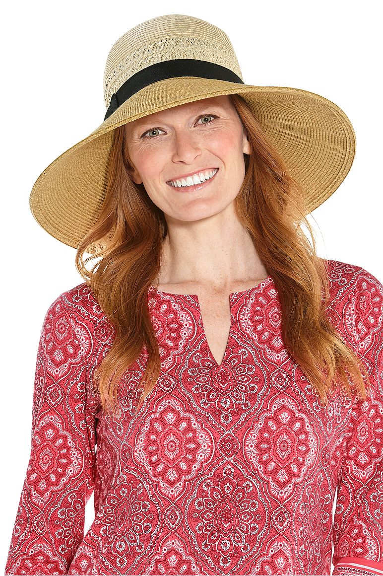 Women's Shannon Wide Brim Beach Hat UPF 50+