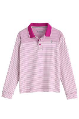 Kid's Erodym Long Sleeve Golf Polo UPF 50+
