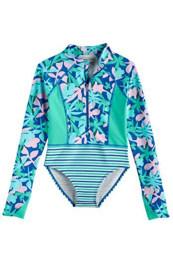 Girl's Koko Long Sleeve Swimsuit