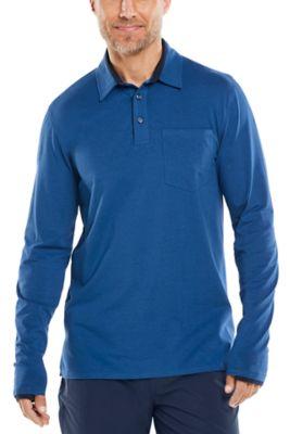 Men's Merrit Long Sleeve Pocket Polo UPF 50+