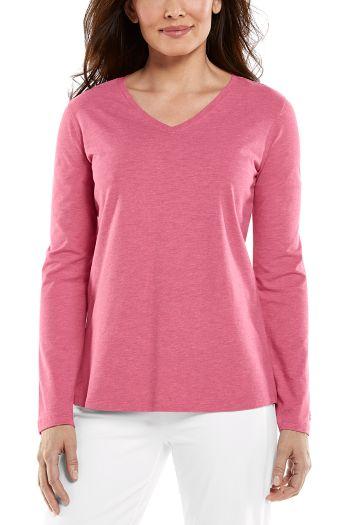 Morada Everyday L/S Deep V-Neck T-Shirt