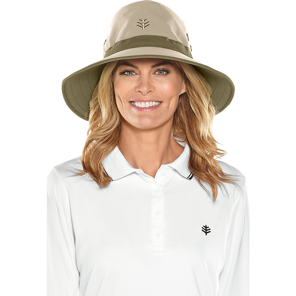 d1ba587e667e5 Coolibar UPF 50 Men s Matchplay Golf Hat Small Tan dark Khaki. About this  product. Picture 1 of 4  Picture 2 of 4 ...