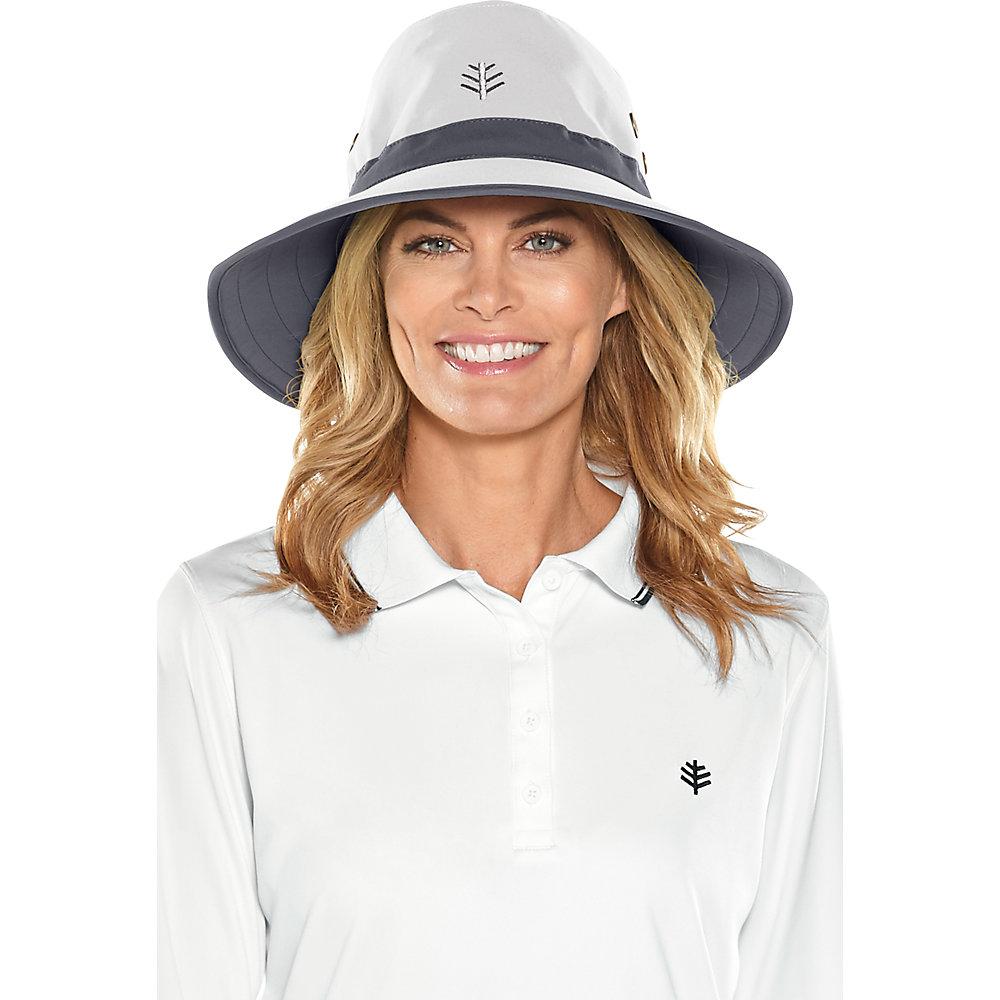 69c93620f57 Coolibar UPF 50 Men s Matchplay Golf Hat Small White carbon