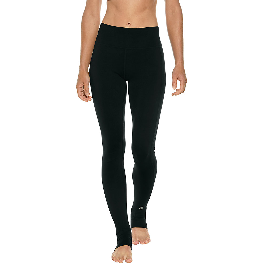 427d6107c0924 Coolibar UPF 50+ Women's High-Rise Asana Stirrup Yoga Leggings | eBay