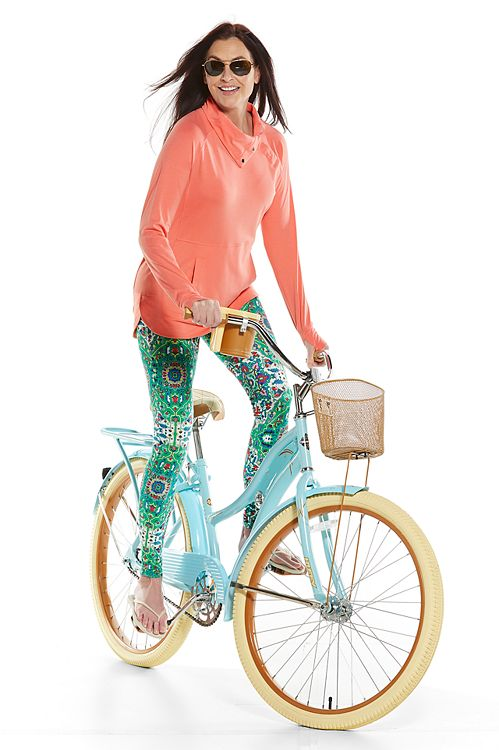 Sea Breeze Funnel Neck Top & Monterey Summer Leggings Outfit