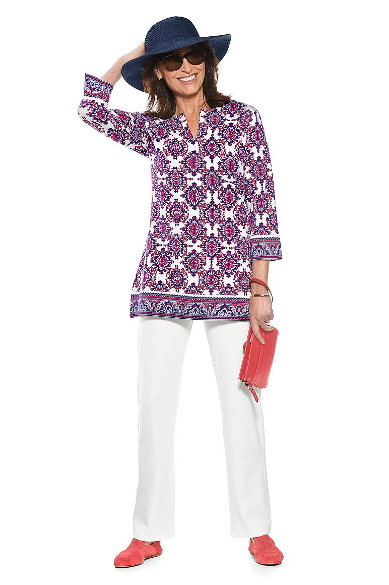 St. Lucia Tunic Top & Beach Pants Outfit