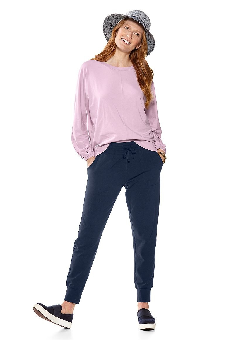 Bistro Balloon Sleeve Top & Weekend Pants Outfit